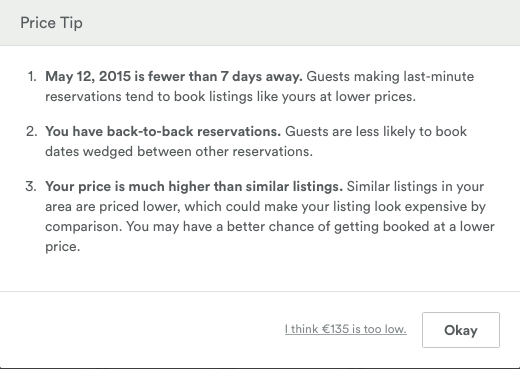 Airbnb price recommendation
