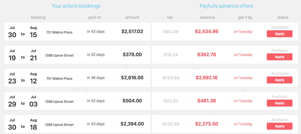 get paid in advance for Airbnb bookings