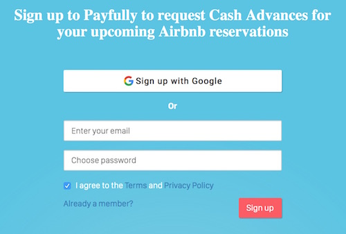how to signup for Payfully