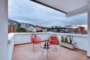 Airbnb penthouse in cali Colombia terrace