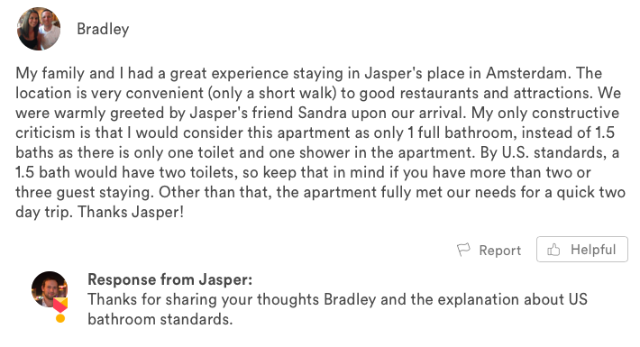 negative airbnb guest reviews