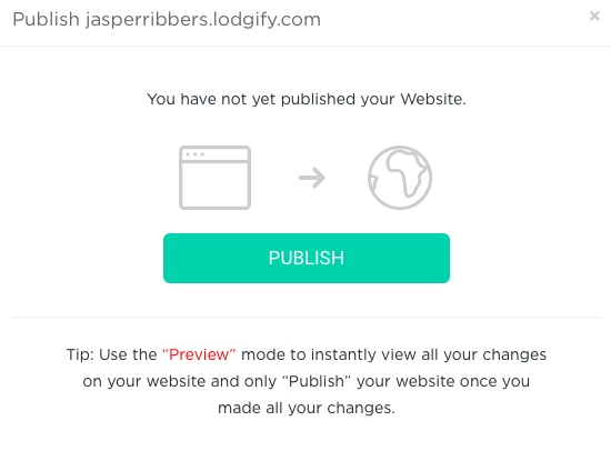Lodgify how to publish your website