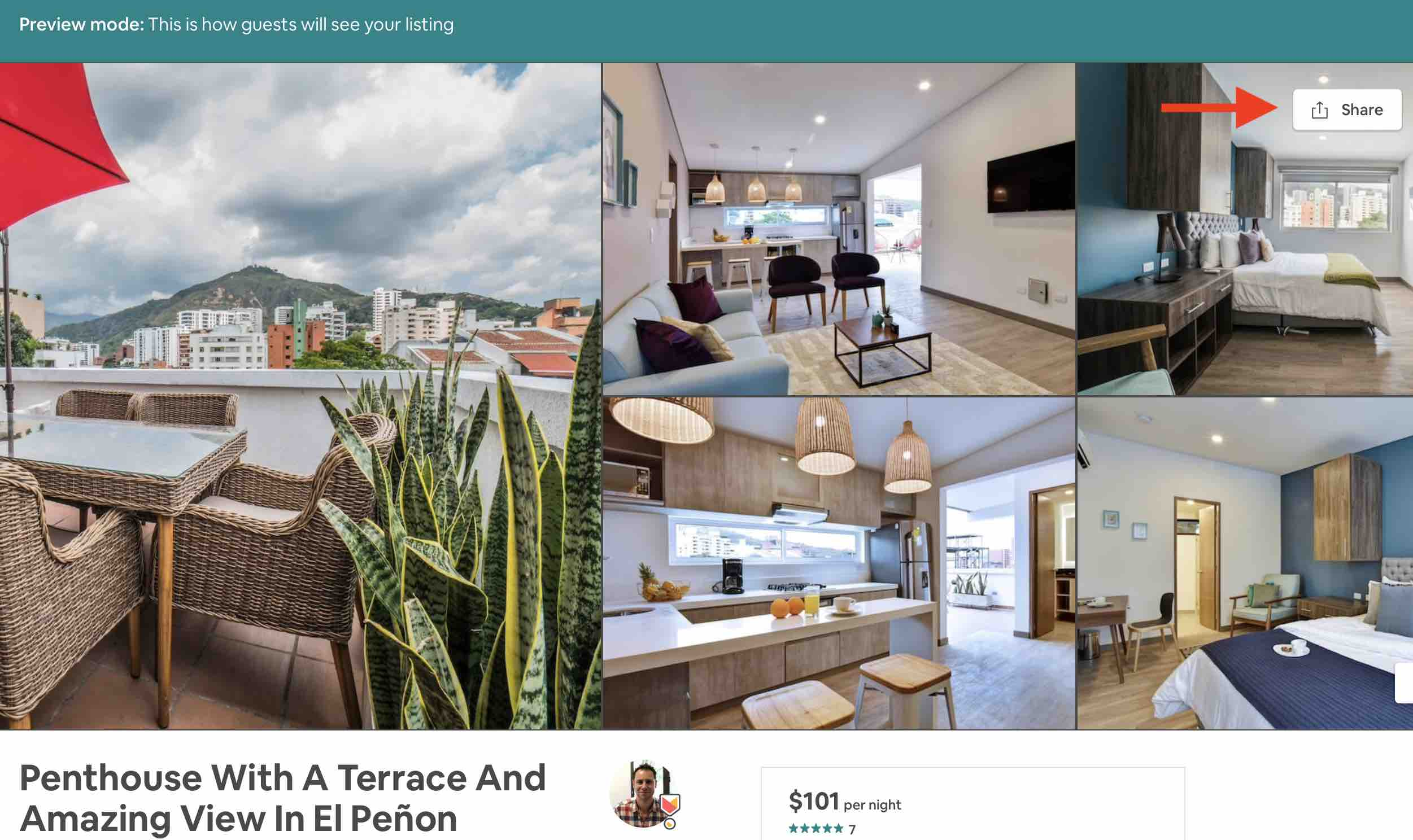 share airbnb listing link