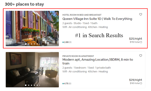 airbnb search ranking