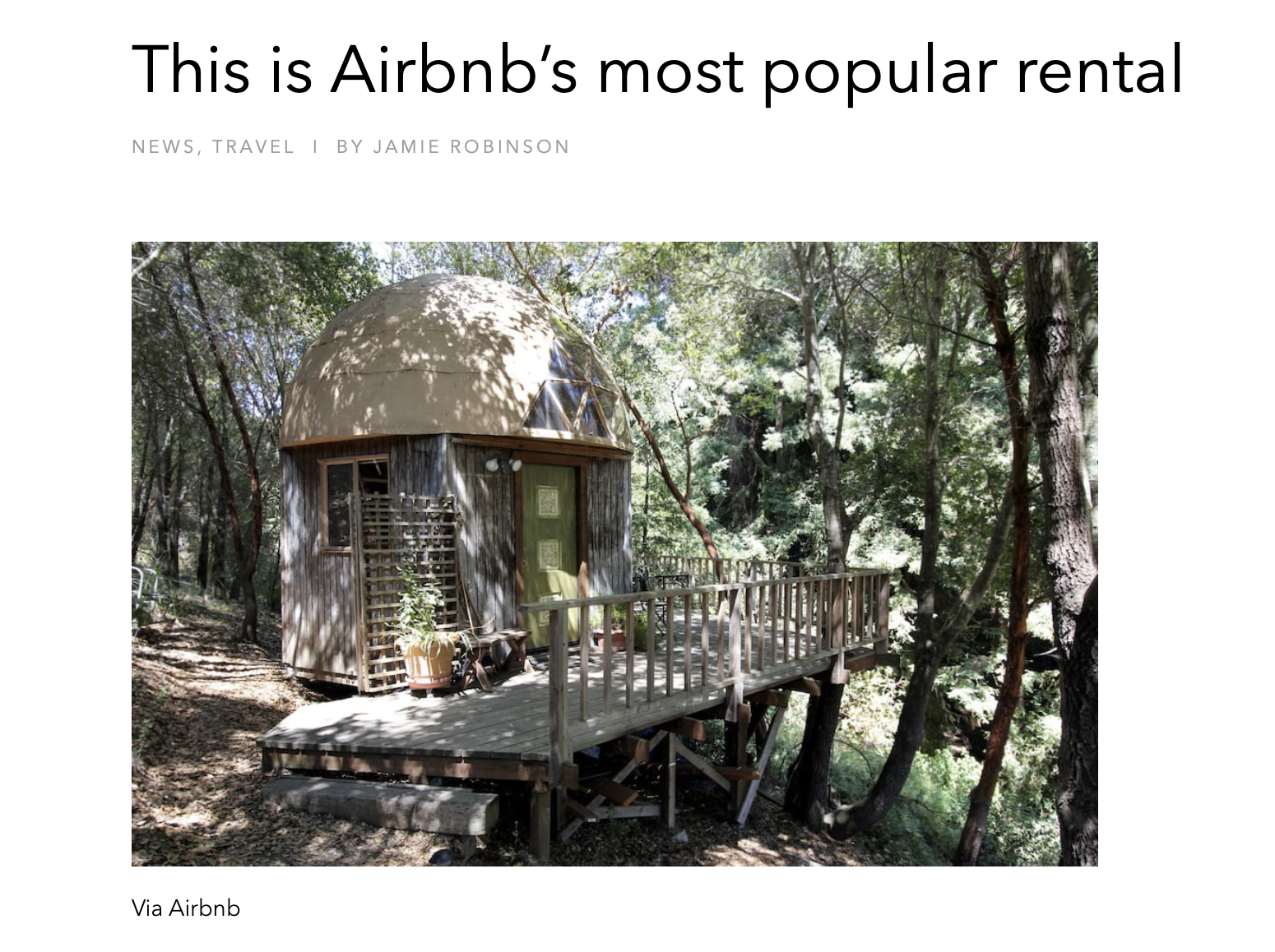 airbnbs most popular listing