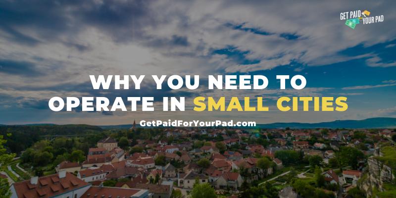 small cities short term rental business