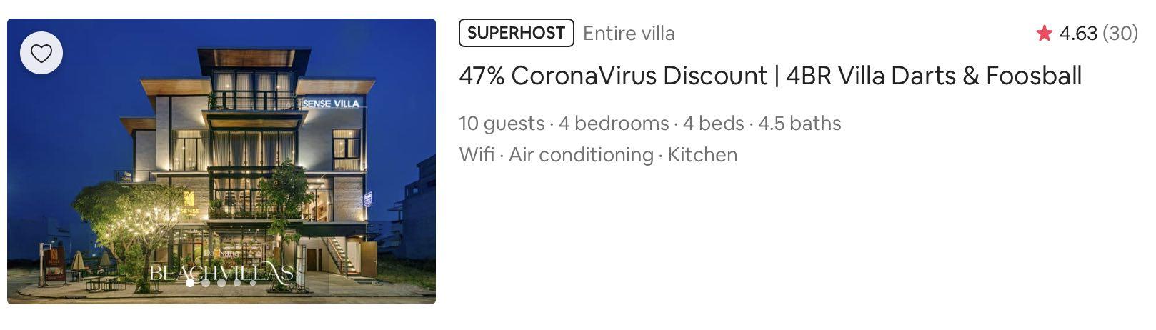 airbnb coronavirus discount