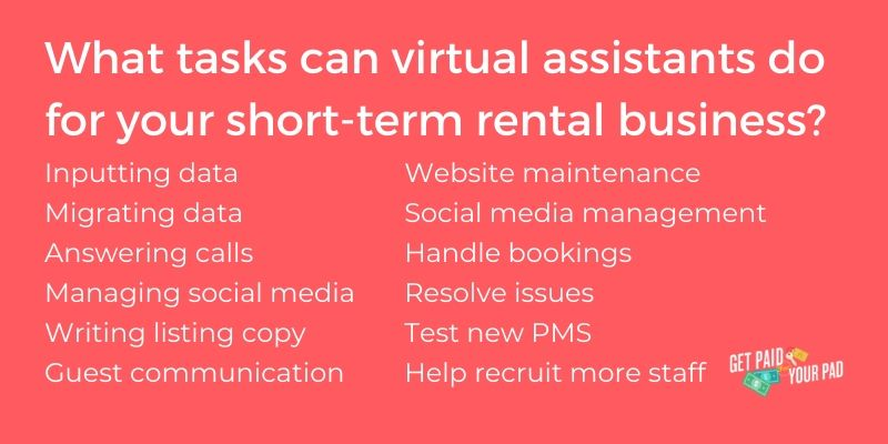 virtual assistants for vacation rental business